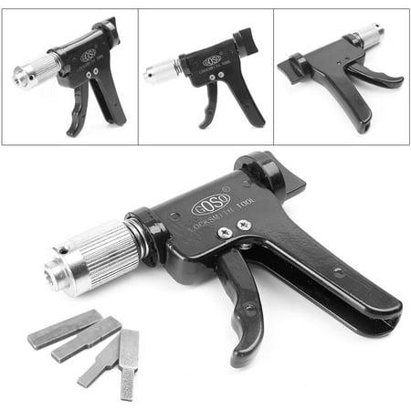 GZYF 1PCS Quick Turning Craftsman Tool Gun Lock Opener Kit +4Tips Advanced Plug Spinner