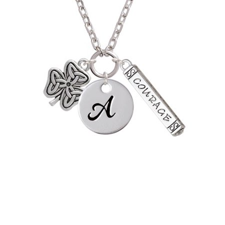 Shamrock With Celtic Knot A Script Initial Disc Courage Strength