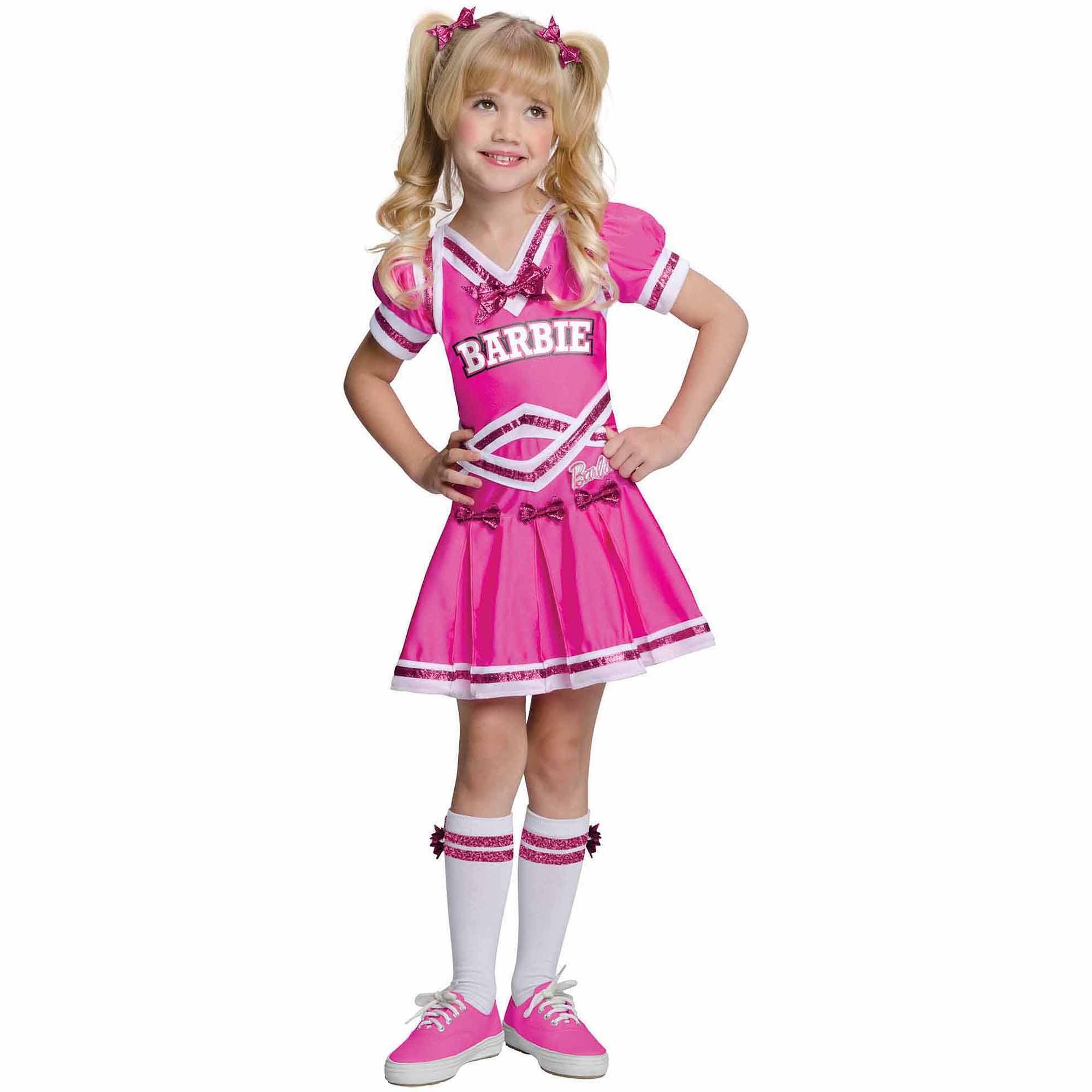 Barbie Cheerleader Child Halloween Costume  sc 1 st  Walmart & Cheerleader Costumes