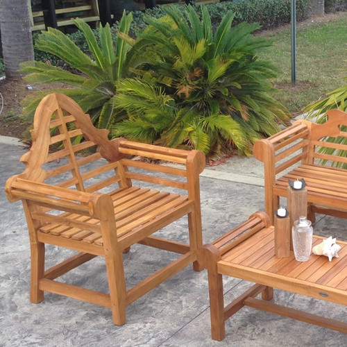 Chic Teak Lutyens Patio Dining Chair
