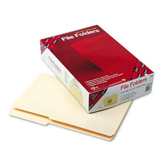 Guide Height Folder- 2/5 Cut Right- Reinforced Top Tab- Legal- Manila- 100/Box