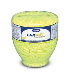 3M E-A-Rsoft E910R Yellow Neon Disposable Earplugs, 200 Pairs
