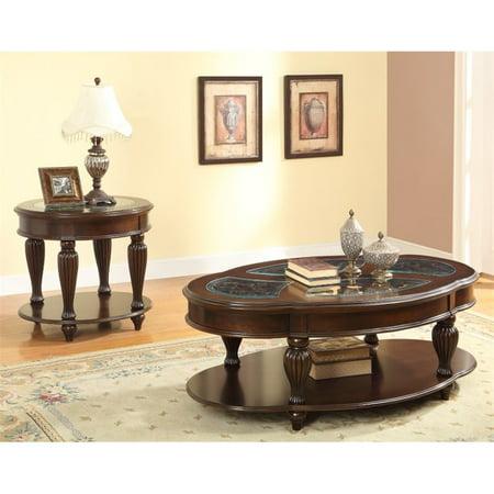 Wondrous Furniture Of America Artemis 2 Piece Coffee Table Set In Dark Cherry Machost Co Dining Chair Design Ideas Machostcouk