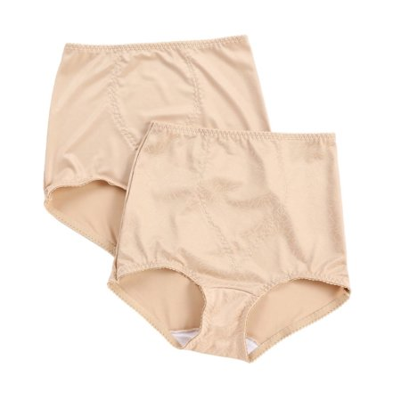 Women's Bali X70J Light Control Brief Panty w/ Tummy Panel - 2 Pack ()