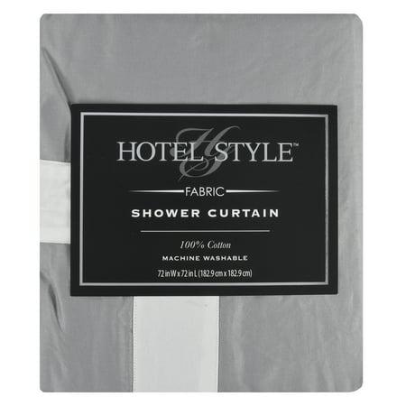 Hotel Style Framed Grey Shower Curtain - Walmart.com