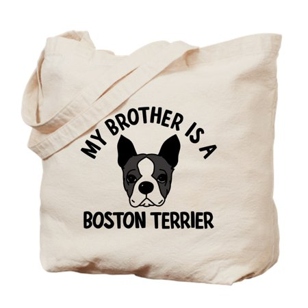 CafePress - My Brother Is A Boston Terrier - Natural Canvas Tote Bag, Cloth Shopping Bag