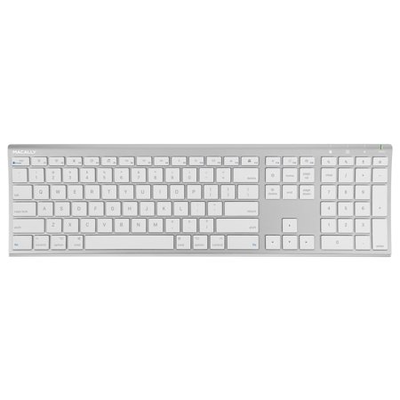 Macally RF Wireless Computer Keyboard (Full-Size) with Compact 2.4GHz Dongle USB Receiver for Apple MacBook Pro, Air Laptops or iMac, Mac Mini Desktops | Plug and Play