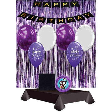 The Nightmare Before Christmas Decoration Party Pack with Balloons ? - Nightmare Before Christmas Birthday Halloween Party Supplies