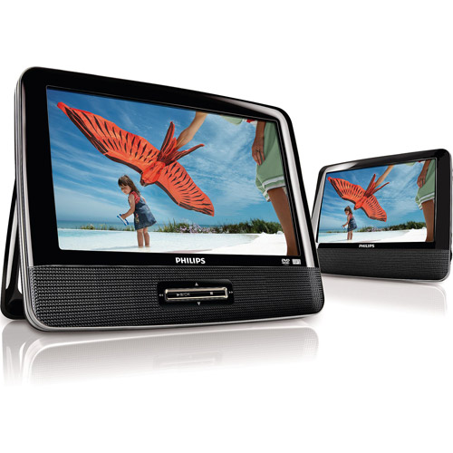 "Philips PD9012M/37 9"" LCD  Dual Screen Portable  DVD Player"