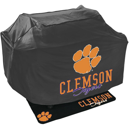 Mr. Bar-B-Q NCAA Grill Cover and Grill Mat Set, Clemson University Tigers
