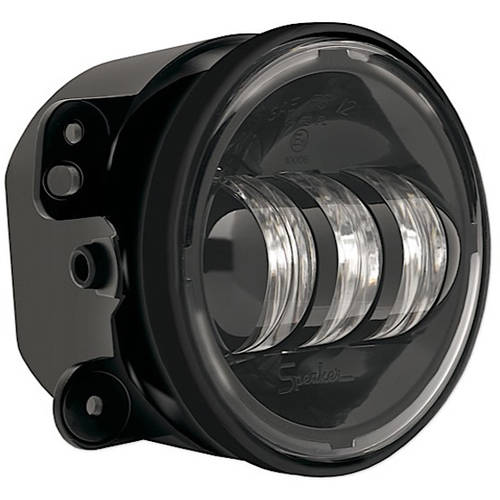 Single 6145-12V Bumper Fog Lamp Black