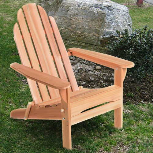All Things Cedar Folding Adirondack Chair Western Red Cedar by All Things Cedar