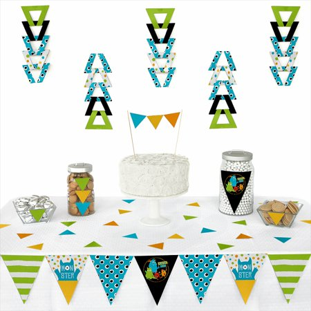 Monster Bash - Triangle Little Monster Birthday Party or Baby Shower Decoration Kit - 72 - Birthday Center Pieces
