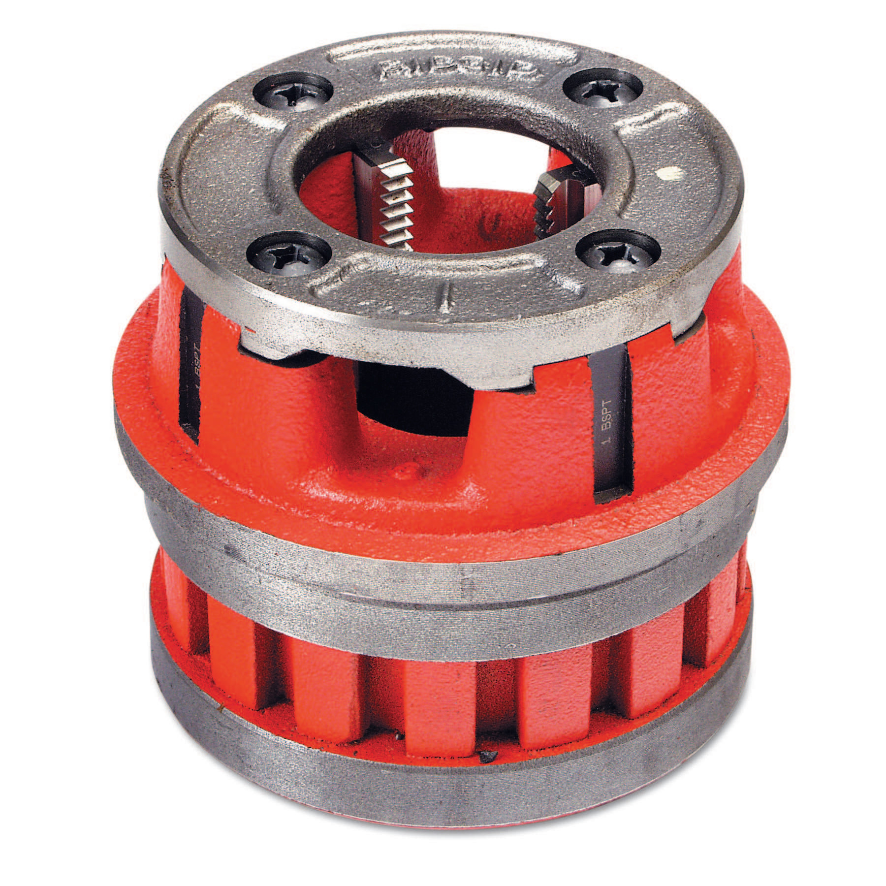 Ridgid Manual Threading/Pipe and Bolt Die Heads Complete w/Dies, 1/4 in - 18 NPT, 12R