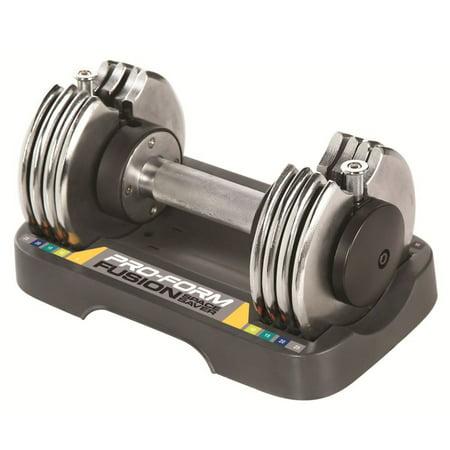 ProForm Adjustable Dumbbell 25lb, Single (Straight Adjustable Single)