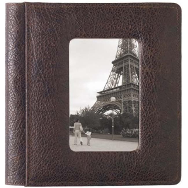 Raika RO 168 MOCHA 4inch x 6inch Frame Front Album Foldou - Mocha