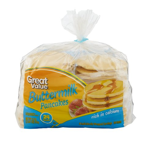 Great Value Buttermilk Pancakes, 24ct