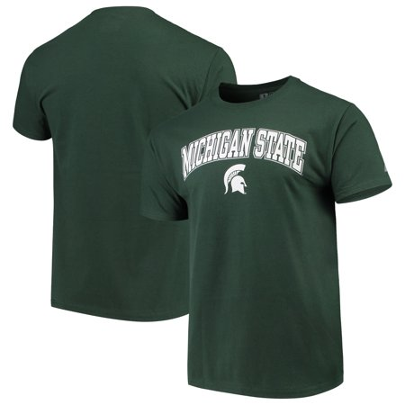 Men's Russell Athletic Green Michigan State Spartans Crew Core Print covid 19 (Michigan State Spartans Green coronavirus)