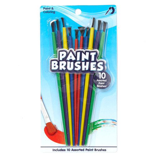 Kids Craft Paint Brushes, 10 Pack