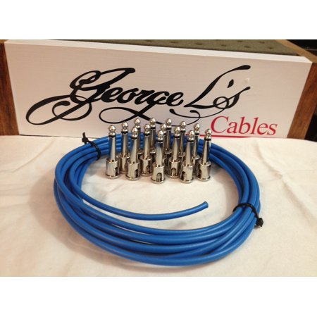 - George L 155 Pedalboard Effects Cable Kit LARGE .155 Blue / Nickel 15/14