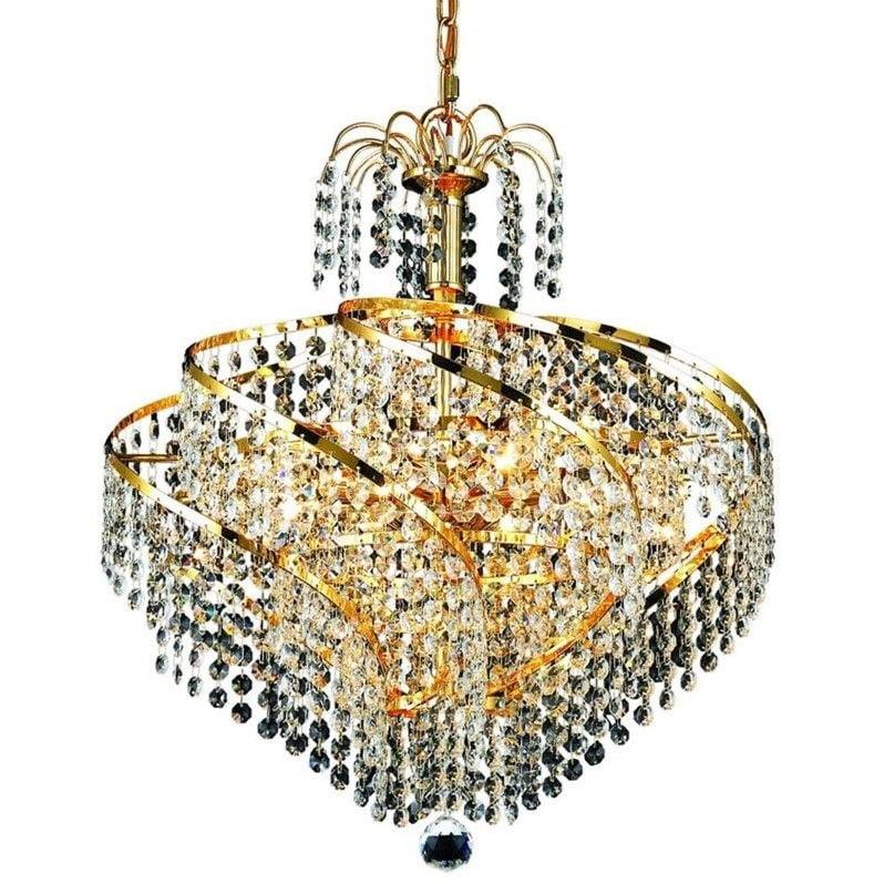 "Elegant Lighting Spiral 18"" 8 Light Spectra Crystal Pendant Lamp - image 1 de 1"
