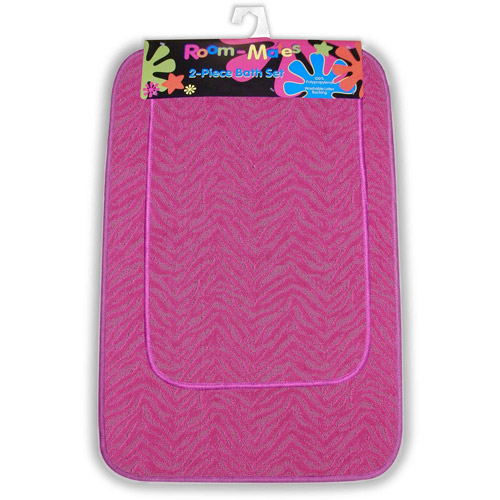 Zebra 2pc Bath Rug Set