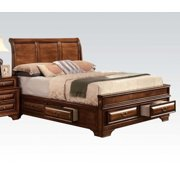 Konane Brown Cherrystorage King Sleigh Bed