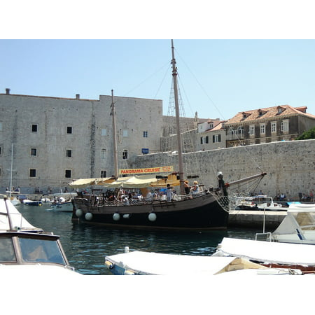 LAMINATED POSTER City Dubrovnik Pirate Ship Old Town Croatia Boat Poster Print 24 x - Cardboard Pirate Boat