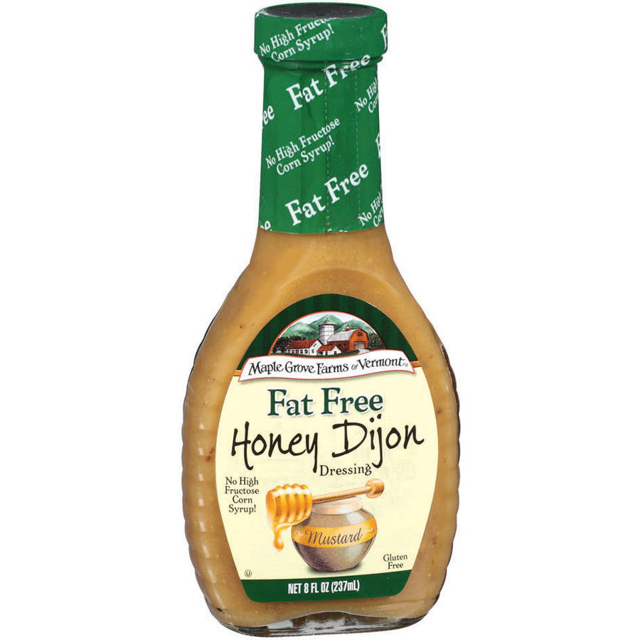 Maple Grove Farms Fat Free Honey Dijon Dressing, 8 oz (Pack of 6)