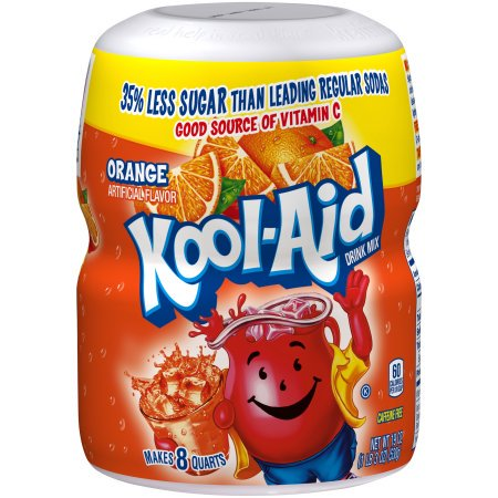 (6 Pack) Kool-Aid Orange Drink Mix, 19 oz Jar