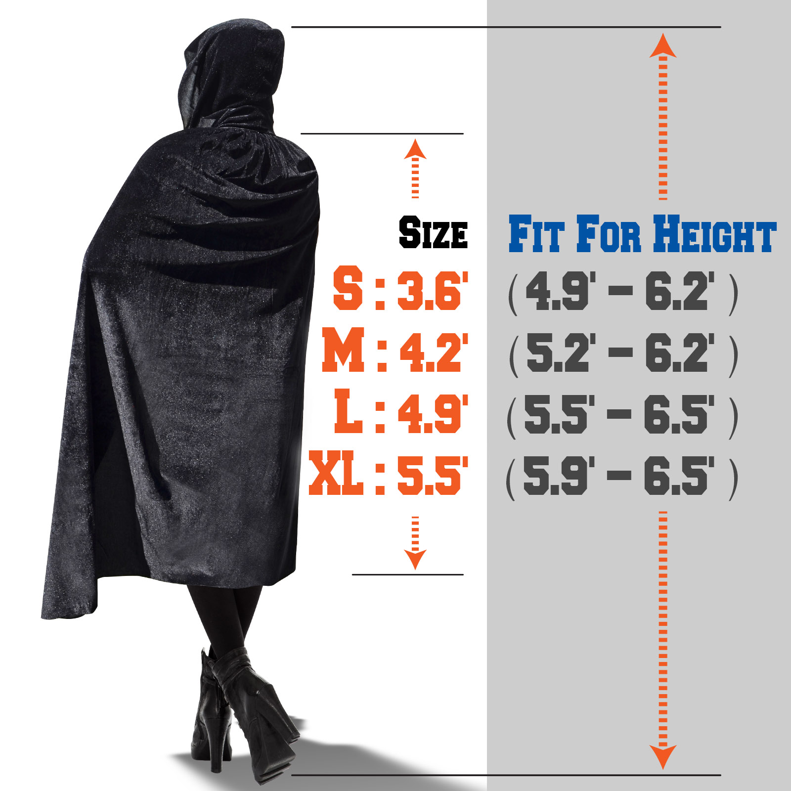 Strong Camel Halloween Cloak Cosplay Costume Witch Hooded Robe Party Long Fancy Dress 4 Sizes for Choice
