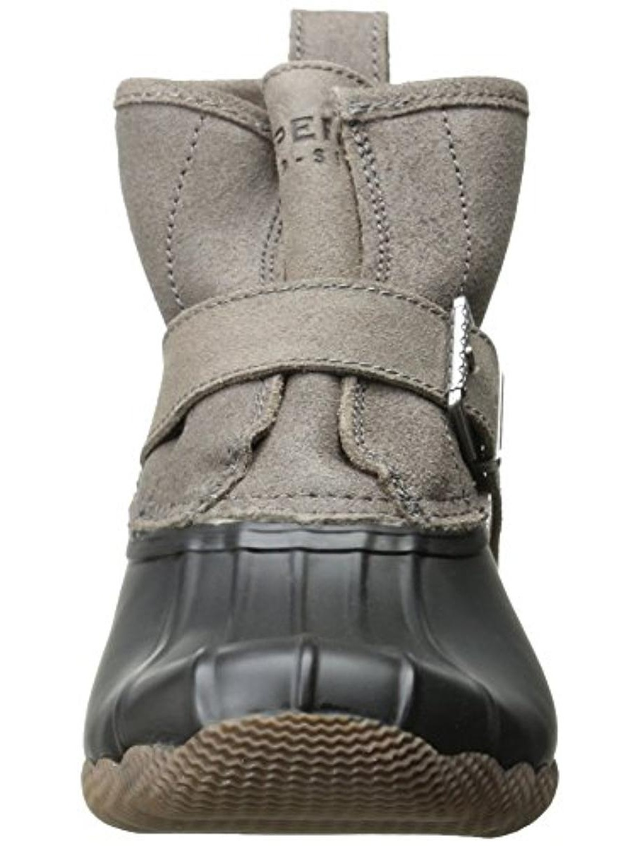 Sperry Womens Rip Water Faux Fur Ankle Rain Boots