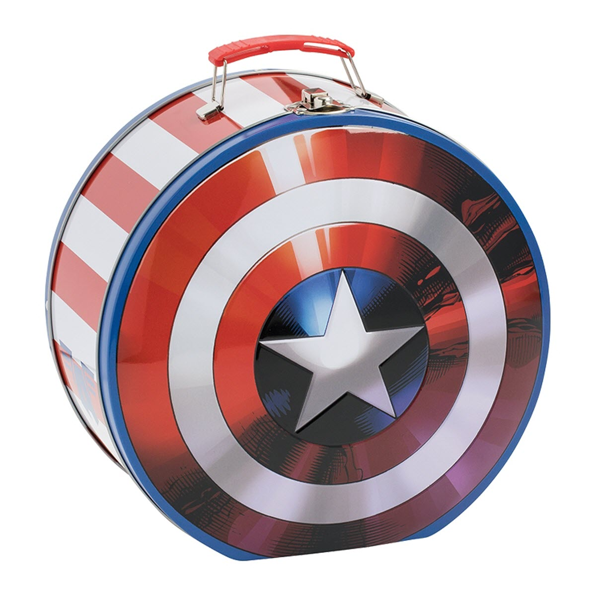 Marvel Captain America Shield Shaped Tin Tote Civil War Winter Soldier Avengers - image 1 of 1