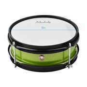 Muslady 8inch Snare Drum Head with Drumsticks Shoulder Strap Drum Key for Student Band