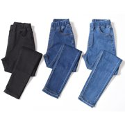 LIENRIDY Women's Plus Size Stretch Denim Pants Elastic High Waist Skinny Jeans With Pocket - image 4 of 4