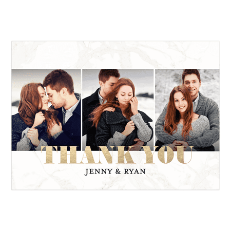 Personalized Wedding Thank You Card - Classic Marble - 5 x 7 Flat](Cheap Wedding Thank You Cards)