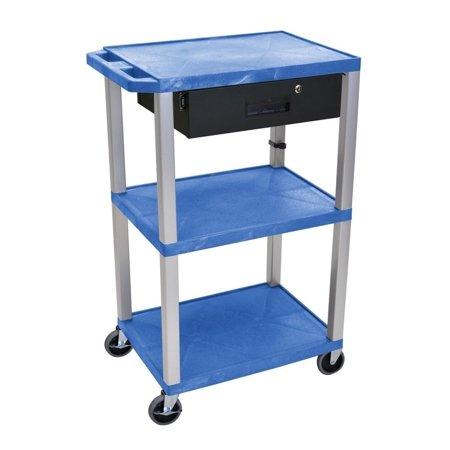 42 Adjustable Height Av Cart (Blue 42