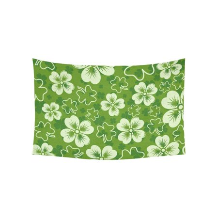 CADecor St Patricks background with clover Wall Hanging Tapestry 40x60 inches Custom Beadroom Home Decor](Custom Tapestry)