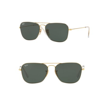 Ray-Ban Unisex RB3603 Square Metal Sunglasses, (Ray Ban 3362 56mm)