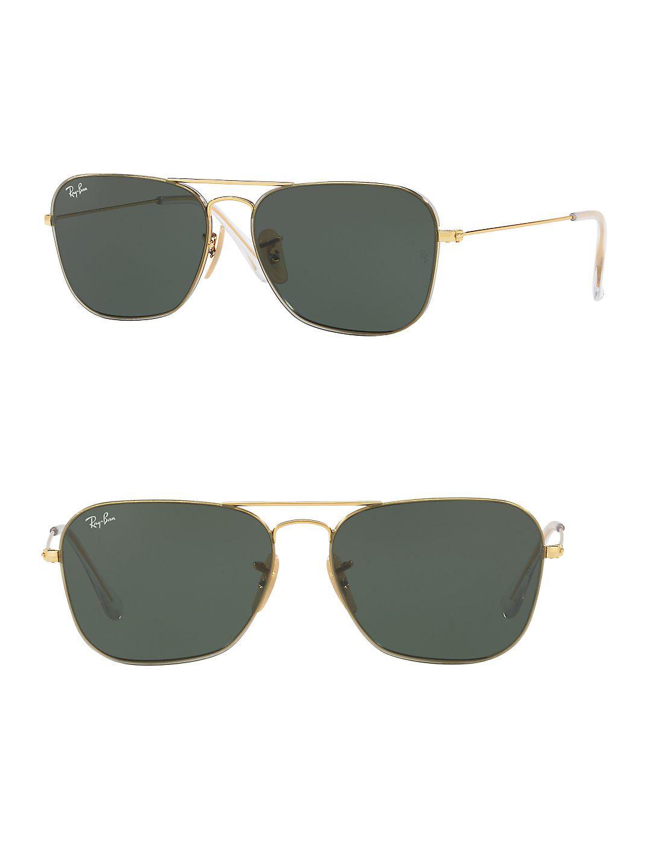 Ray-Ban Unisex RB3603 Square Metal Sunglasses, 56mm