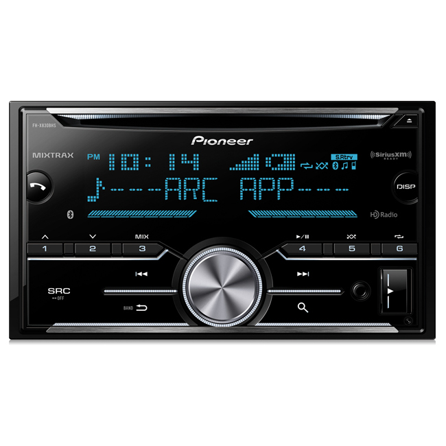 Pioneer FHX830 FH-X830BHS 2-Din CD Receiver w/ ARC App, Bluetooth, HD Radio & SiriusXM-Ready