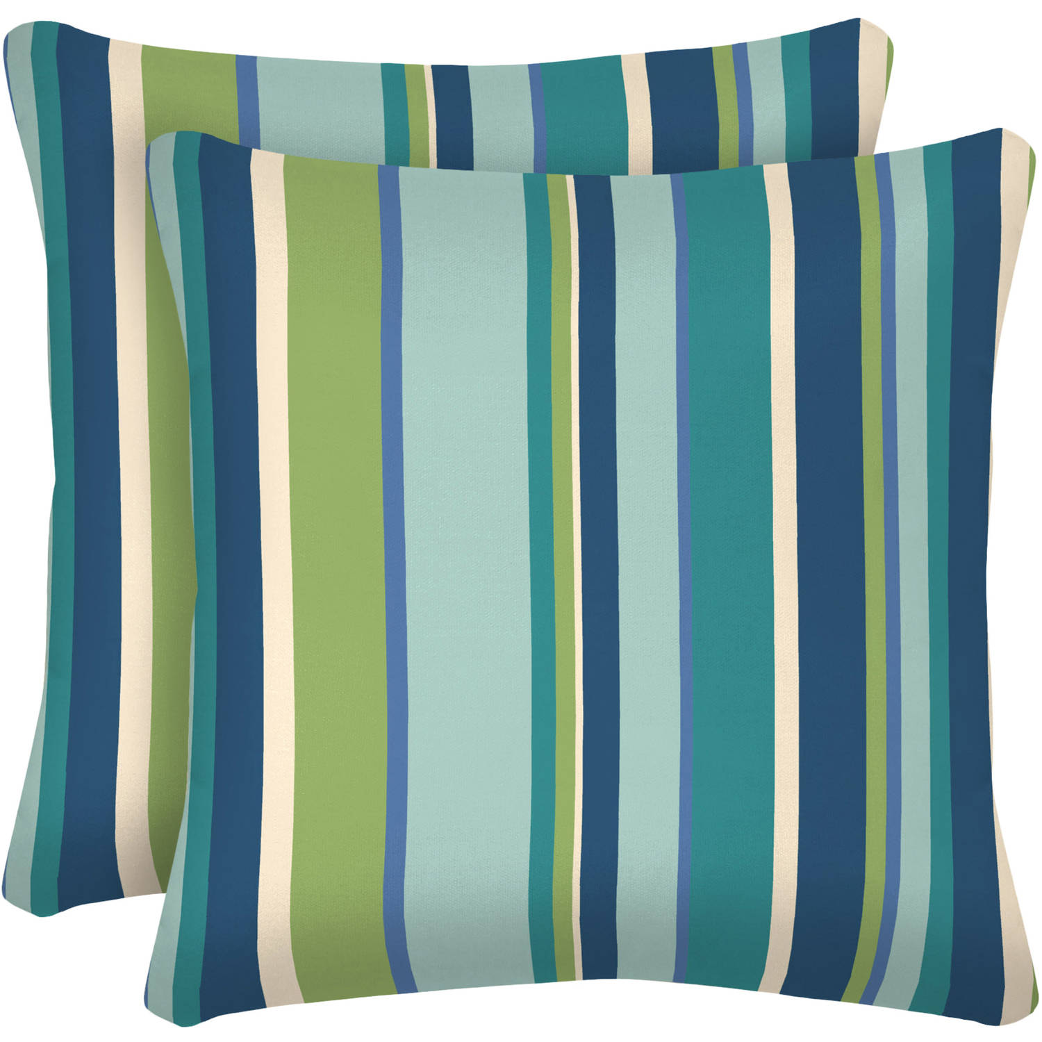 """Better Homes and Gardens Outdoor Patio 16"""" Square Toss Pillow, Set of Two, Multiple Patterns"""