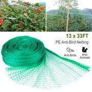 iMountek 13 x 33ft Garden Netting Heavy Duty PE Anti Bird Netting Plants Fruits Tree Vegetables Protection Netting Net