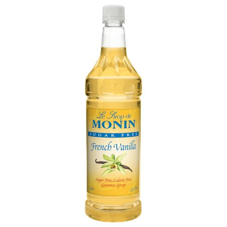 Monin Sugar Free French Vanilla Syrup Case 1ltr (PACK OF