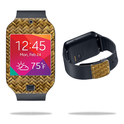 Skin Decal Wrap for Samsung Galaxy Gear 2 Neo Smart Watch cover skins sticker watch Basket Weave