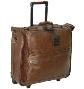 Amerileather Leather Rolling Garment Bag