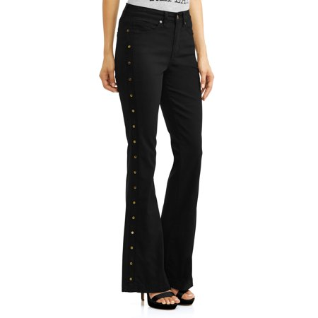 Gloria Studded Sides High Waist Stretch Flare Jean Women's