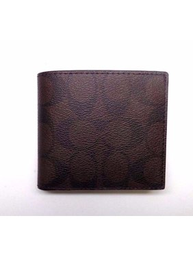 Coach Mens Signature PVC Coin Wallet