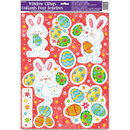 (5 pack) Happy Easter Bunny Window Decals