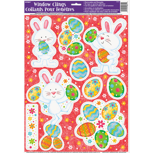 Happy Easter Bunny Window Decals